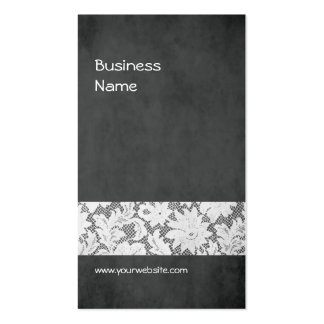 Modern Dark Grey Lace Interior Designer Double-Sided Standard Business Cards (Pack Of 100)