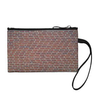 Modern Dark Red Brick Wall Background Coin Wallet