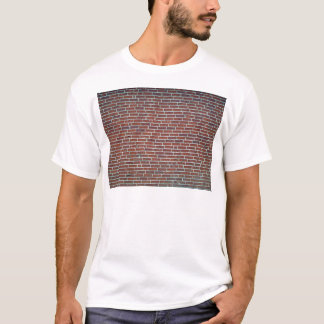 Modern Dark Red Brick Wall Background T-Shirt