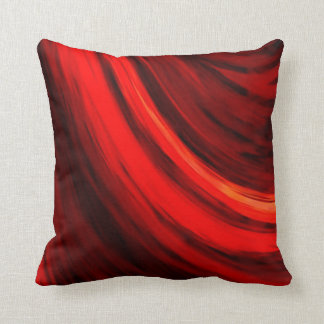 Modern Dark Red Brown Color Abstract Throw Pillow