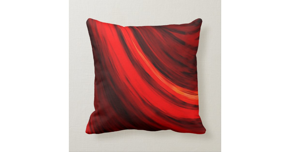 modern dark red brown color abstract throw pillow. Black Bedroom Furniture Sets. Home Design Ideas