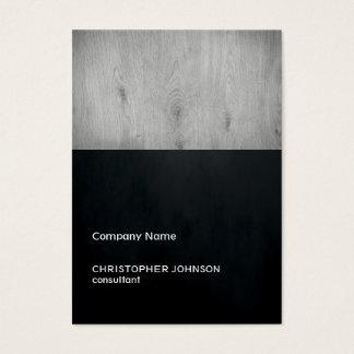 Modern Dark Texture Black Grey Wood Construction Business Card