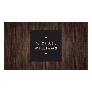 Modern Dark Wood Professional Business Card