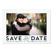 "Modern Date photo save the date card 5"" X 7"" Invitation Card"