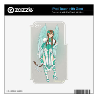 Modern day Digital Animation Young Girl Skins For iPod Touch 4G