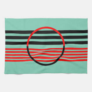 Modern Day Kitchen Towel With Art Deco Style at Zazzle