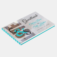 Modern Day Love - Turquoise Wedding Guestbook