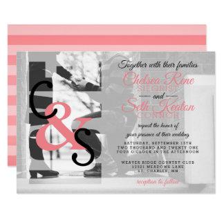 Modern Day Love Wedding Invitation - Coral