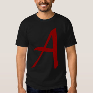 Modern day scarlet letter - A for Atheist Tee Shirts