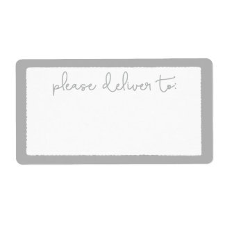 Modern Deckle Please Deliver To Address Label