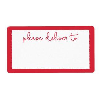 Modern Deckle Please Deliver To Address Label