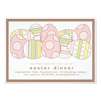 Modern Decorated Eggs Easter Dinner Invitation