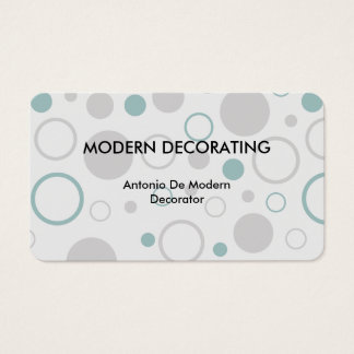 Modern Decorating Business Cards