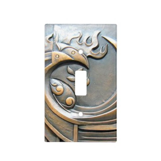 Modern Decorative Abstract Bronze Texture Light Switch
