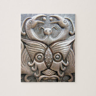 Modern decorative abstract bronze totem art puzzles