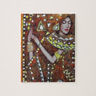 Modern  decorative abstract portrait art jigsaw puzzles