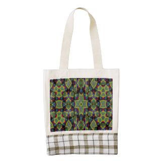 Modern decorative art zazzle HEART tote bag