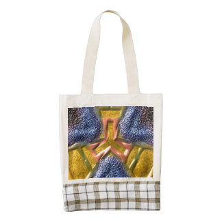 Modern decorative cool  pattern zazzle HEART tote bag