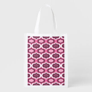 Modern Decorative Pink Pattern Grocery Bag