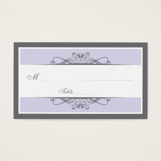 Modern Decorative Special Occasion Placecard Business Card