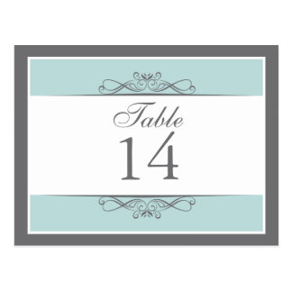 Modern Decorative Table Number Card