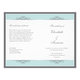 Modern Decorative Wedding Program Flyer