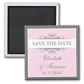 Modern Decorative Wedding Save the Date Magnet magnet