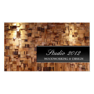 Modern Decorative Woodworking Studio Business Card