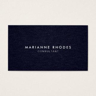 Modern Deep Blue Denim Minimalistic Business Card