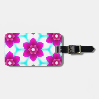 Modern Deep Pink Flowers in the Sky Travel Bag Tags