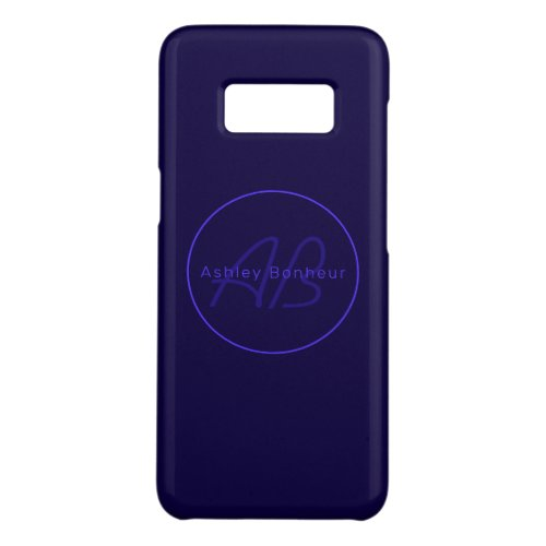 Modern Deep Purple Colors | Cool Name & Monogram Phone Case