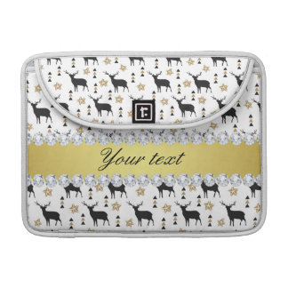 Modern Deer Pattern and Diamonds MacBook Pro Sleeve