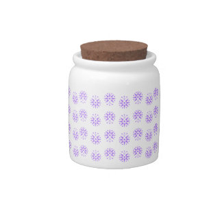 Modern, delicate lilac floral pattern print candy dish