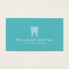 Modern Dentist Aqua Tooth Logo, Dental Office Business Card at Zazzle