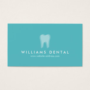 Dental business cards templates zazzle modern dentist aqua tooth logo dental office business card accmission Choice Image