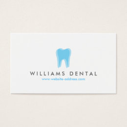 Dentist business cards templates zazzle modern dentist blue tooth logo dental office business card reheart Image collections