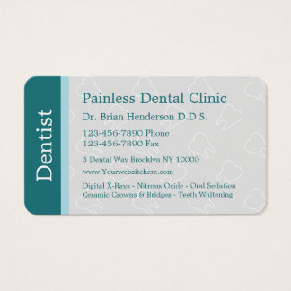 Modern Dentist Business Cards