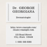 Modern Dermatologist Business Card