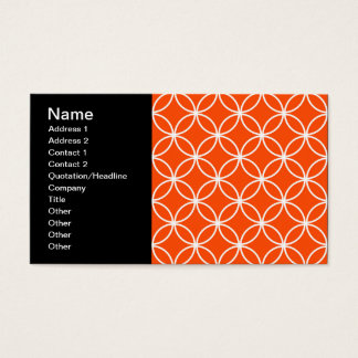 Modern Design Overlapping Circles in Orange Business Card