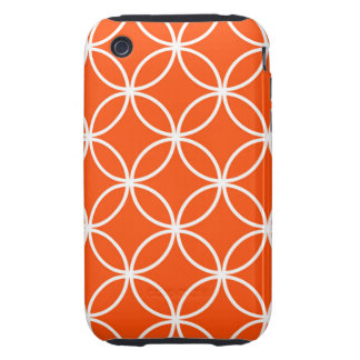Modern Design Overlapping Circles in Orange Tough iPhone 3 Case