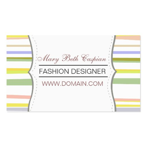Modern Design  Pale Colored Stripes Business Cards