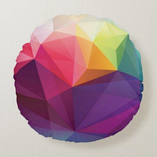 Modern Design Round Pillow Zazzle