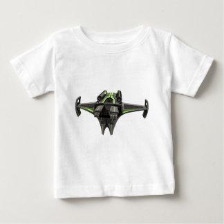 Modern design spaceship on white tee shirt