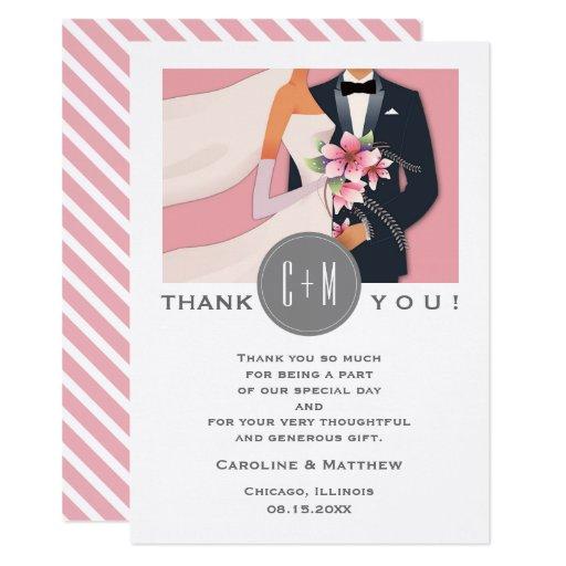 Modern Design Wedding Thank You Custom Flat Cards