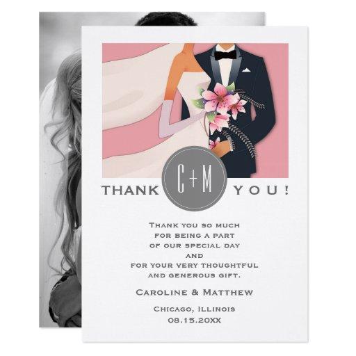 Modern Design Wedding Thank You Custom Photo Cards