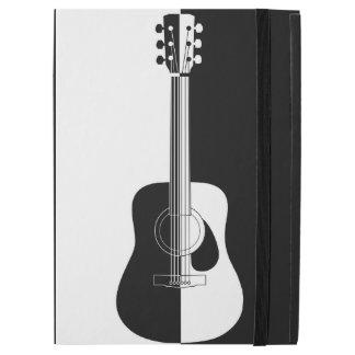 "Modern designer black and white guitar art iPad pro 12.9"" case"