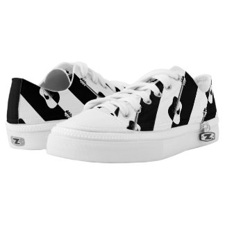 Modern designer black and white guitar sneakers printed shoes