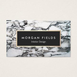 Modern Designer Black and White Marble Stone Business Card