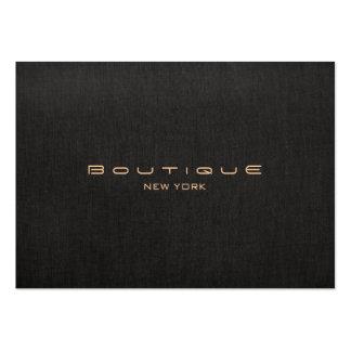 Modern Designer Faux Black Linen Professional Large Business Card