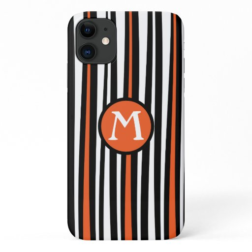 Modern designer tapered stripes iPhone 11 case